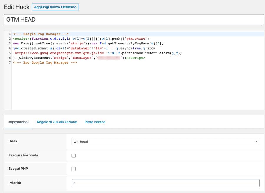 Hook con GeneratePress