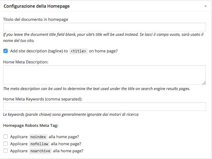 Impostazioni SEO della home page con Genesis di StudioPress