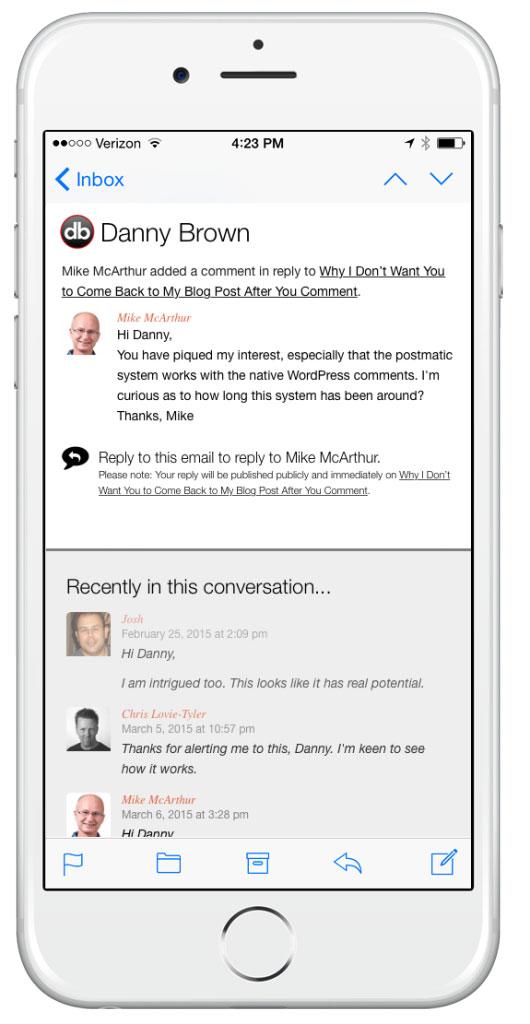 Risposta ai commenti via email con Postmatic