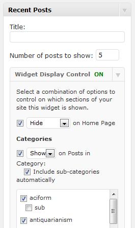 conditional widget