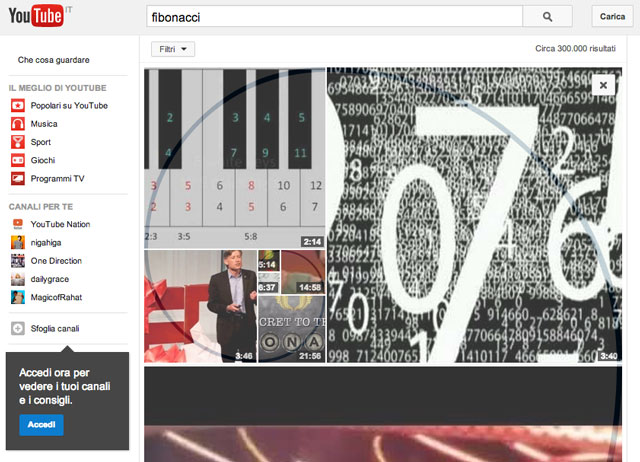fibonacci-su-youtube