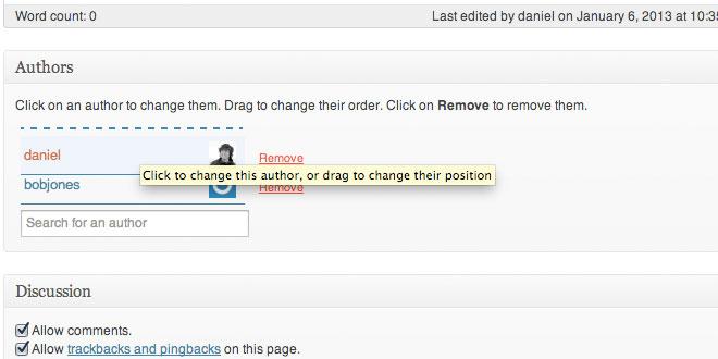 Co-Authors WordPress plugin