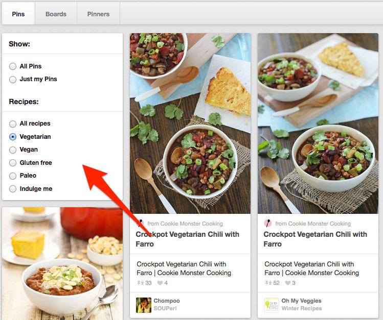 cercare le ricette su pinterest come fare e come essere