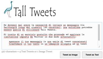 Tall Tweets per tweet lunghissimi