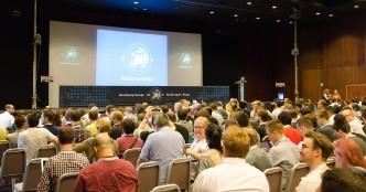Una delle due sale del WordCamp 2015 a Siviglia